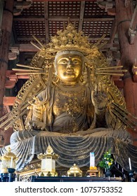 The Great Buddha at Todaiji Temple in Nara, Japan