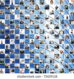 Great business collage made of 225 different pictures and abstract elements. Perfect for illustrating and the best as background.