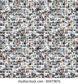 Great business collage made of about 1000 pictures