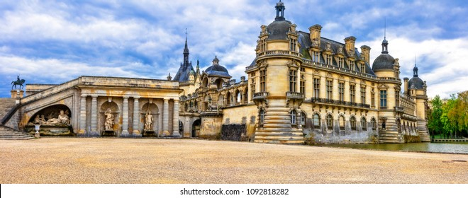 Great castles of  France. Royal palace Chateau de Chantilly