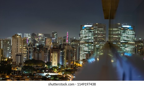 Great cities at night, Sao Paulo Brazil South America, Moncoes neighborhood