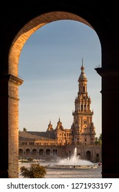 Great city scape in Seville , Spain