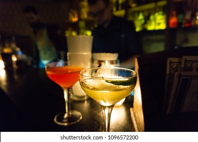 A great cocktail at a speak easy in Paris, France