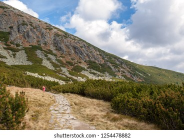 Great Cold Valley in Vysoke Tatry (High Tatras), Slovakia. The Great Cold Valley is 7 km long valley, very attractive for tourists