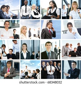 Great collage made of many business pictures
