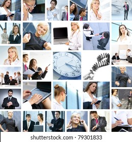 Great collage made of many different images about business style of life