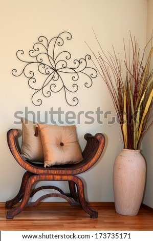 Great Decorated Corner Vase Dry Branches Stock Photo Edit Now