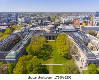 Great Dome of Massachussets Institute of Technology (MIT) aerial view, Cambridge, Massachusetts MA, USA.