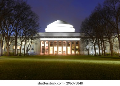 Great Dome of Massachussets Institute of Technology (MIT) at night, Cambridge, Massachusetts, USA