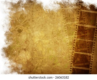 Great film strip for textures and backgrounds-with space for your text and image