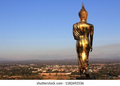 """Great Golden Buddha statue at the""""Wat Phra That Kao Noi"""" , Nan province, Thailand"""