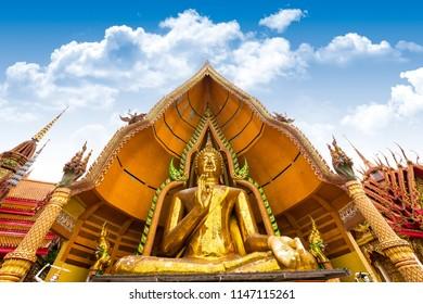 The great gorgeous Bhudda in Wat Tham Sua Kanchanaburi, Thailand