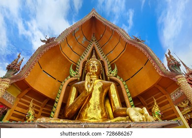 The great gorgeous Bhudda in Wat Tham Sua Kanchanaburi, Thailand