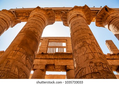 Great hypostyle hall at Temples of Karnak in Luxor
