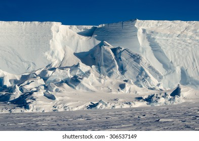 The Great Ice Wall. Brunt Ice Shelf, Antarctica