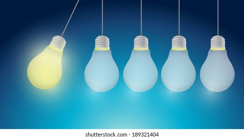 great idea light bulb message bubble illustration design over a white background