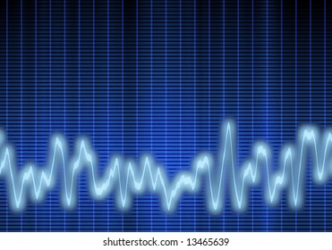 great image of a blue audio or sound wave