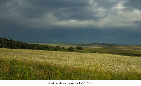 great  landscape under the stormy sky