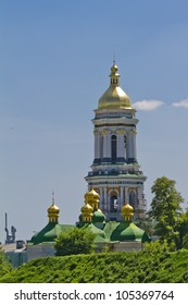 Great Lavra Bell tower. Kiev Pechersk Lavra or Kiev Monastery of the Caves is a historic Orthodox Christian monastery. Kiev Pechersk Lavra is UNESCO World Heritage Site. Kiev, Ukraine, Europa.