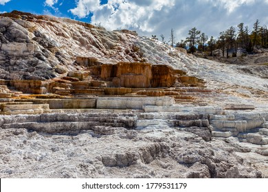 Great Mammoth Area in Yellowstone National Park as seen from Palette Springs