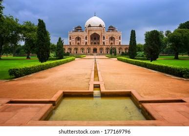 Great Mogul emperor Humayun's mausoleum in New Delhi, India