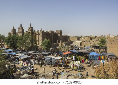 The great mosque and the market, Djenné, Mali