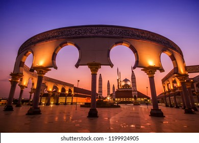 Great Mosque or Masjid Agung Semarang Central Java is a mosque  has an amazing and interesting architecture. Towards night or sunset is a very beautiful time here