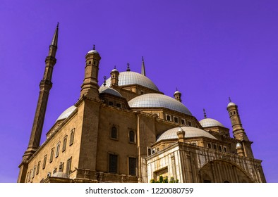 The great Mosque of Muhammad Ali Pasha (Alabaster Mosque), situated in the Citadel of Cairo, Egypt.