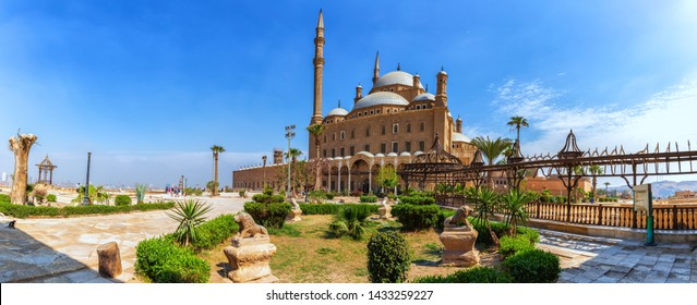 The Great Mosque of Muhammad Ali Pasha or Alabaster Mosque, panorama of the yard of the Citadel
