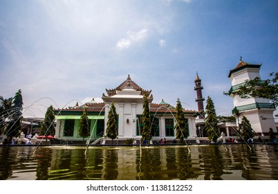 The Great Mosque of Palembang, The biggest Mosque in Palembang City, South Sumatera, Indonesia