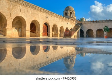 Great Mosque in Sousse and its pool reflection
