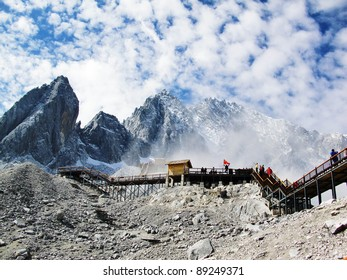Great mountain in Yunnan province, China, which name is Yulong