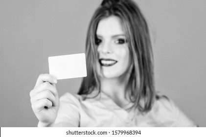 Great news for you. nurse in white uniform hold business card. sexy woman doctor. health care and medical concept. Doctor patient. Health care and cure. healthy lifestyle. here is my business card.