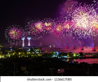 A great night shot for Kuwait City celebrations