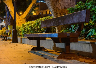 Great night view in the village Alcala.  Tenerife. Canary Islands.Spain