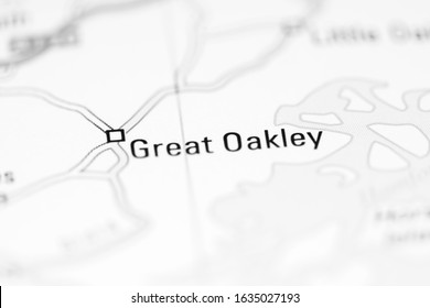 Great Oakley on a geographical map of UK