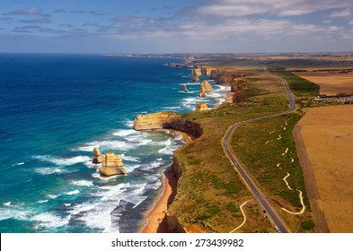 Great Ocean Road and 12 Apostles. Australia. Series of city and country