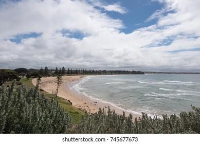 Great Ocean Road, Australia - November 1, 2017: Great Ocean Road, a major tourist attraction along the ocean in Victoria, Australia.