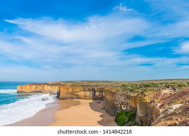 The Great Ocean Road, Victoria, Australia. Copy space for text