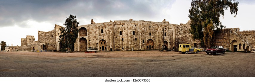 Great  old castle of Damascus Syria