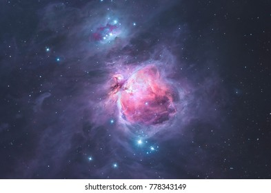 The Great Orion nebula in the constellation Orion, the hunter