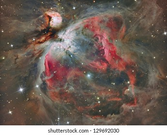 The Great Orion Nebula in real colors