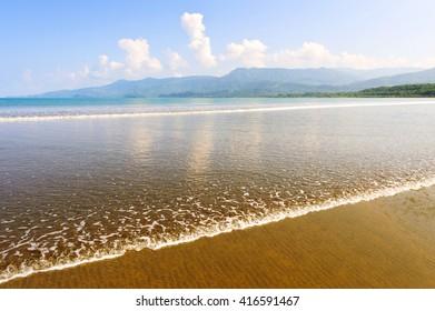 Great Pacific Beach on Cape Uvita. Marino Ballena National Park. Central America. Costa Rica