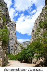 Great Paklenica canyon national park in Velebit mountain, Croatia.