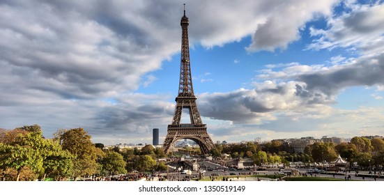 A great panorama of Eifle tower, Paris, France