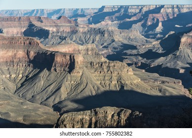 Great panoramic view of the incredible mountains and cliffs that form the Great Canyon situated in Arizona, USA