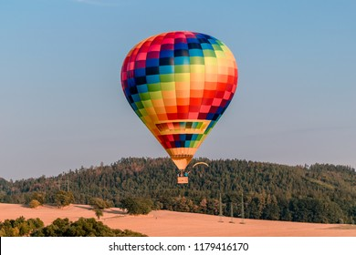 Great photo of hot air balloon at the balloon festival in Bouzov.