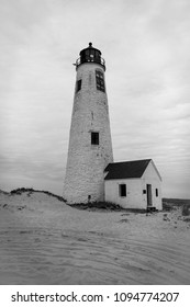 Great Point Lighthouse Black and White