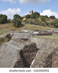 Great Pyramid of Cholula and the Church of Our Lady of the Remedies (Cholula, Puebla State, Central Mexico)