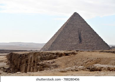 The Great Pyramid of Giza, (also known as the Pyramid of Khufu or the Pyramid of Cheops), located near Cairo, Egypt.